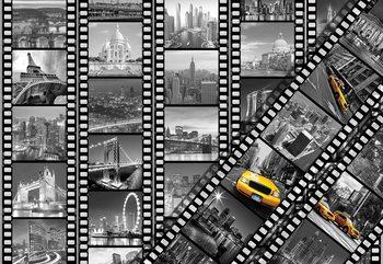 Fotomural  New York City Film Negatives