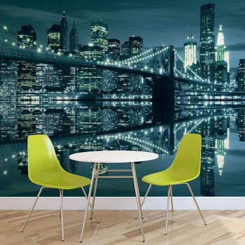 Fotomural New York  Skyline Brooklyn Bridge
