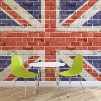 Fotomural  Pared de ladrillos Union Jack