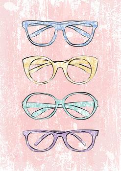 Fotomural Pink Glasses