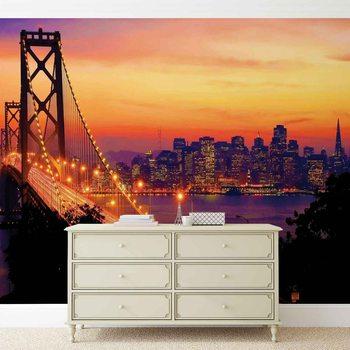Fotomural Puente Golden Gate de la ciudad