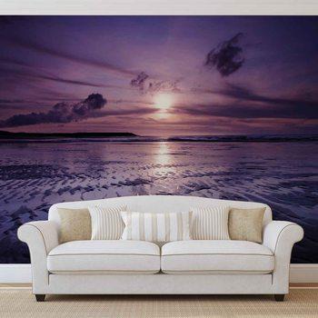 Fotomural Puesta de sol de la playa