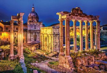 Fotomural  Roman Forum Rome Ancient Ruins