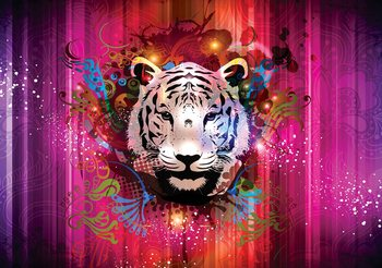 Fotomurale Tiger Abstract