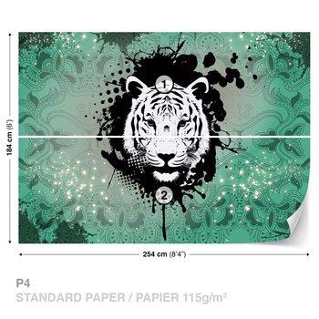 Fotomural Tiger Abstract