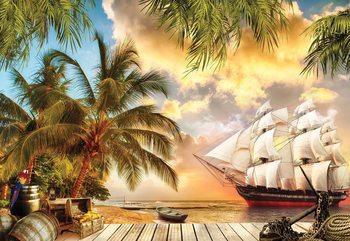 Fotomural  Tropical View