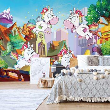 Fotomural Unicorn Town