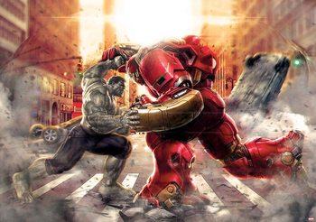 Fotomurale Vengadores Marvel aliados luchando