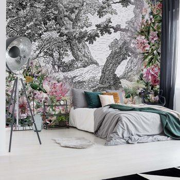 Fotomural Vintage Floral Design