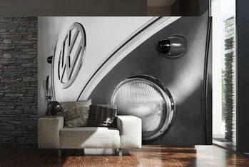 Fotomurale Volkswagen - Camper badge black & white