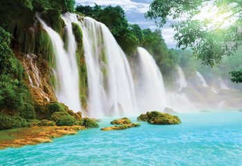 Fotomural Waterfall Lake