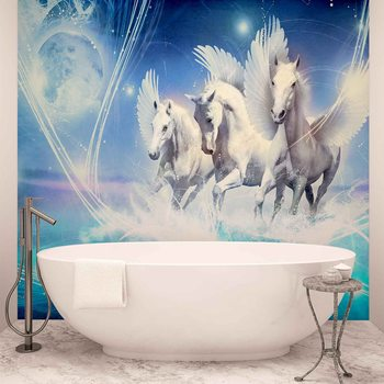 Fotomurale Winged Horse Pegasus Blue