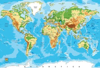 Fotomural  World Map Atlas