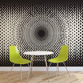 Abstract Black White Dots Fototapet