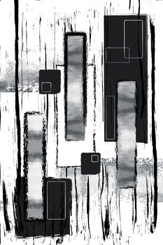 Abstract Painting No. 50   silver Fototapet