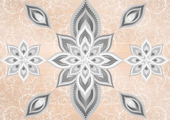 Abstract Pattern Silver Gold Fototapet