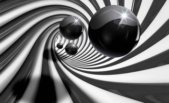 Abstract Swirl Modern Spheres Fototapet