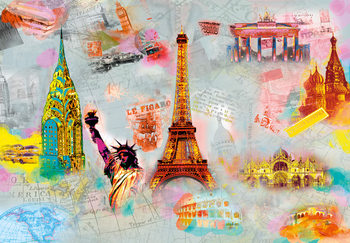 AROUND THE WORLD Fototapet