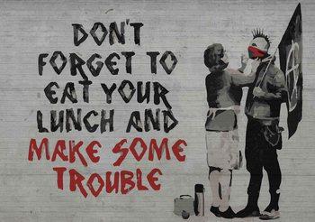 Banksy Graffiti Fototapet