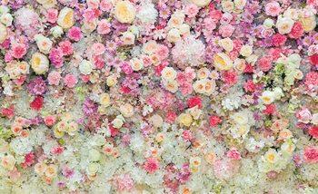 Beautiful Flowers Pastel Colours Fototapet