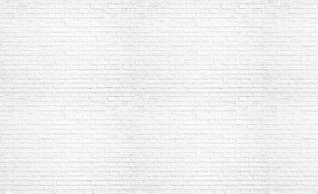 Biała ceglana ściana Fototapet
