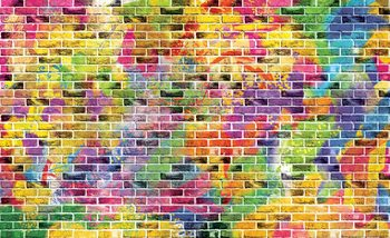 Bricks Multicolour Fototapet