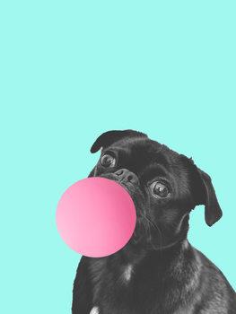 Bubblegum dog Fototapet
