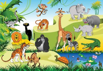 Cartoon Animals Fototapet