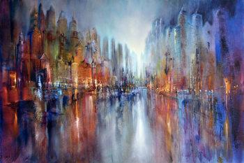 City at the riverside Fototapet