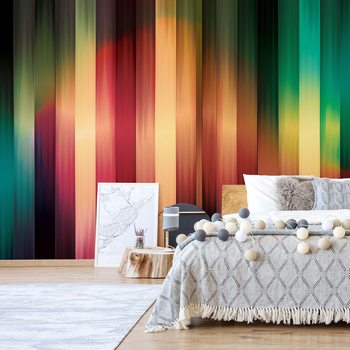 Colourful Light Streaks Modern Design Fototapet