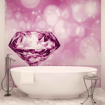 Diamond Pink Fototapet