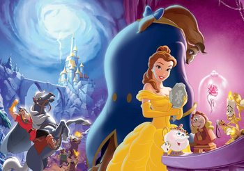 Disney Princesses Belle Beauty Beast Fototapet