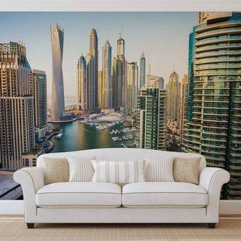 Dubai City Skyline Marina Fototapet