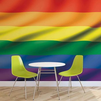 Flag Rainbow Gay Pride Fototapet