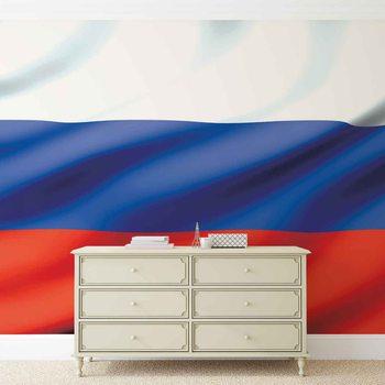 Flag Russia Fototapet