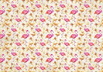 Flamingos Bird Pattern Fototapet