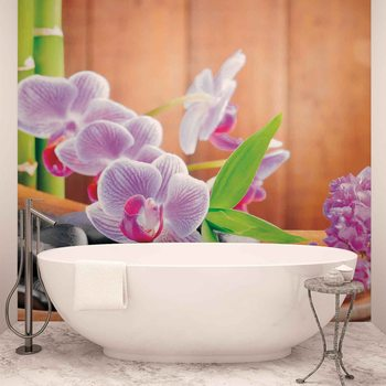 Flowers Orchids Zen Fototapet