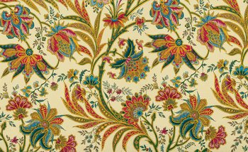 Flowers Plants Pattern Vintage Fototapet