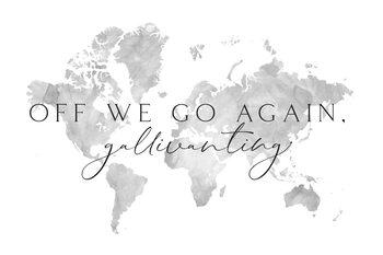 Gallivanting around the world map Fototapet