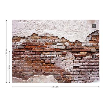 Grunge Brick Wall Fototapet