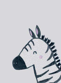 Inky zebra Fototapet