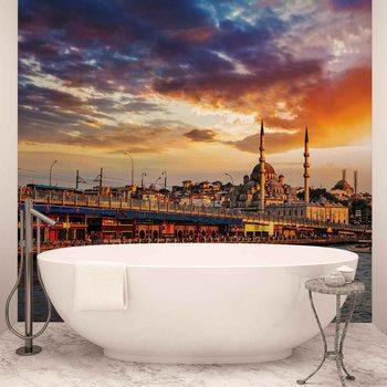 Istanbul City Sunset Fototapet