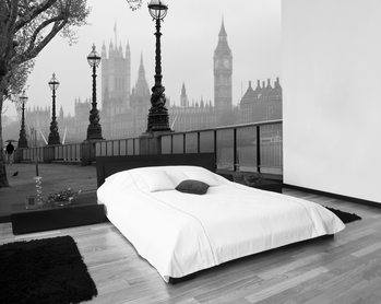 LONDON - fog Fototapet