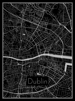 Map of Dublin Fototapet