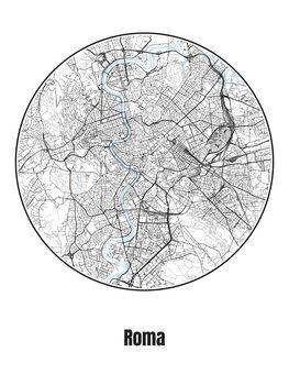 Map of Roma Fototapet