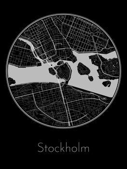 Map of Stockholm Fototapet