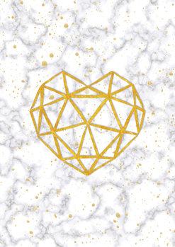 Marble Heart Fototapet