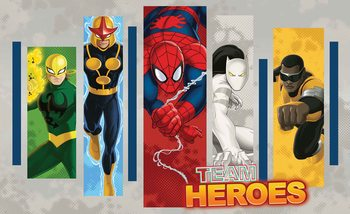 Marvel Comics Team Heroes Fototapet