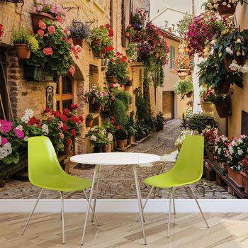 Mediteranean With Flowers Fototapet