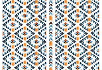 Modern Aztec Pattern Fototapet